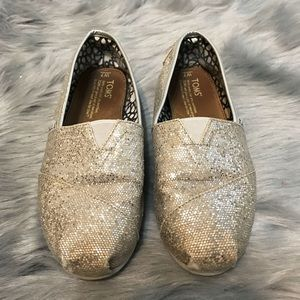 Toms glitter sparkly shoes size 7